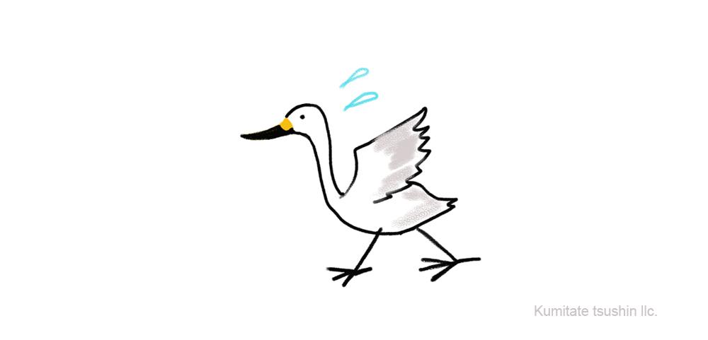 アンデルセン 白鳥のイラスト 絵のない絵本