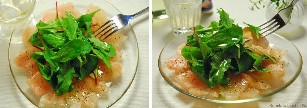 料理写真の撮影のコツ カルパッチョの写真を参考に